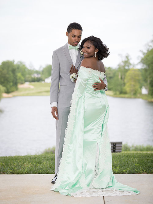 Pale Green Prom Gown